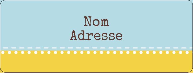 """⅔"""" x 1¾"""" Étiquettes D'Adresse - Bain bleu"""
