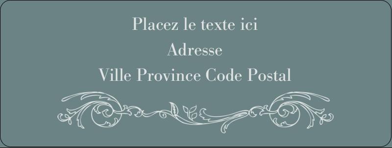 """⅔"""" x 1¾"""" Étiquettes D'Adresse - Cachet français"""