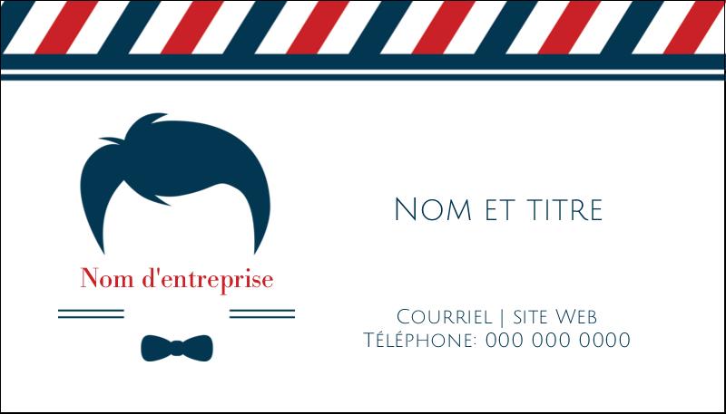 """2"""" x 3½"""" Carte d'affaire - Salon de barbier"""