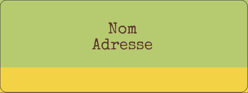 """⅔"""" x 1¾"""" Étiquettes D'Adresse - Fleurs vertes géométriques"""