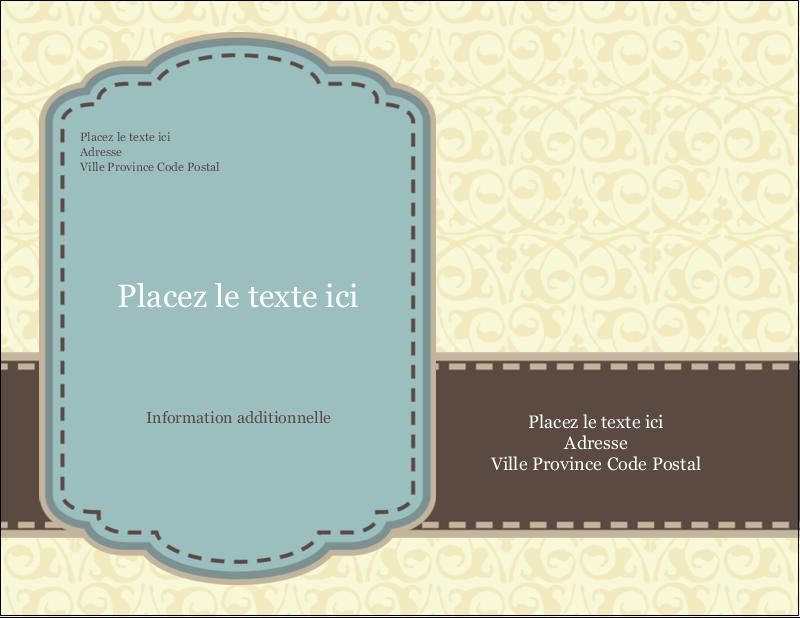 "5½"" x 4¼"" Carte Postale - Vert d'antan"