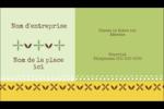 Fleurs vertes géométriques Carte d'affaire - gabarit prédéfini. <br/>Utilisez notre logiciel Avery Design & Print Online pour personnaliser facilement la conception.
