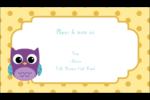 Bébé hibou Carte d'affaire - gabarit prédéfini. <br/>Utilisez notre logiciel Avery Design & Print Online pour personnaliser facilement la conception.