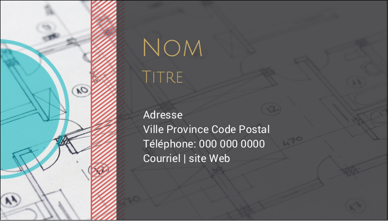 "2"" x 3½"" Carte d'affaire - Architecture"
