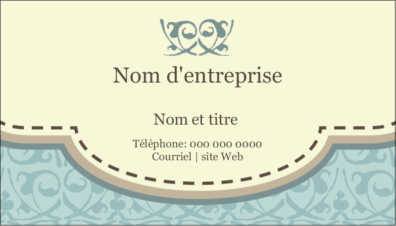 """2"""" x 3½"""" Carte d'affaire - Vert d'antan"""