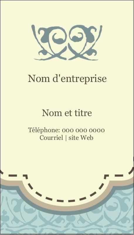 """3½"""" x 2"""" Carte d'affaire - Vert d'antan"""