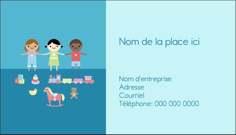 """2"""" x 3½"""" Carte d'affaire - Éducation et préscolaire"""