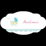 Poussette pour bébé avec tons bleus