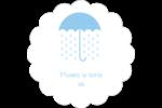 Parapluie pour bébé Étiquettes festonnées - gabarit prédéfini. <br/>Utilisez notre logiciel Avery Design & Print Online pour personnaliser facilement la conception.
