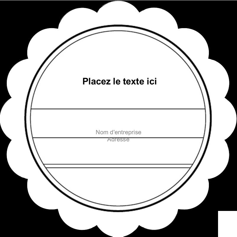 """2"""" Diameter Étiquettes festonnées - Modernité"""