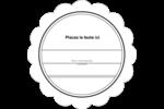 Modernité Étiquettes festonnées - gabarit prédéfini. <br/>Utilisez notre logiciel Avery Design & Print Online pour personnaliser facilement la conception.