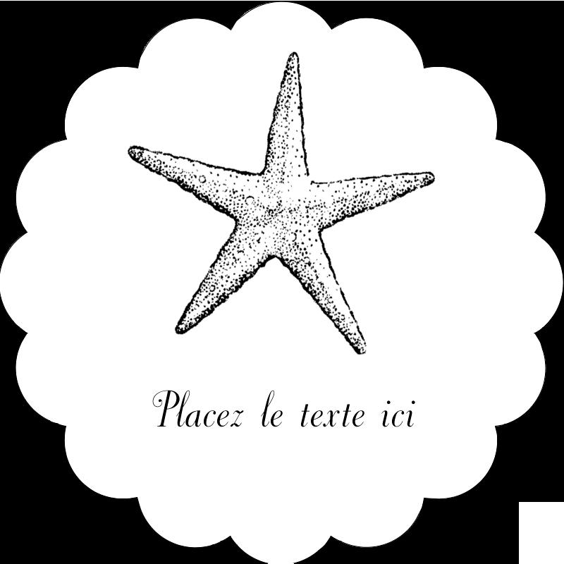 """2"""" Diameter Étiquettes festonnées - Plage"""