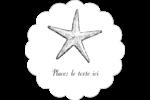 Plage Étiquettes festonnées - gabarit prédéfini. <br/>Utilisez notre logiciel Avery Design & Print Online pour personnaliser facilement la conception.