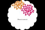 Fête prénuptiale en rose et orange Étiquettes festonnées - gabarit prédéfini. <br/>Utilisez notre logiciel Avery Design & Print Online pour personnaliser facilement la conception.