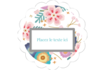 Gros motifs floraux Étiquettes festonnées - gabarit prédéfini. <br/>Utilisez notre logiciel Avery Design & Print Online pour personnaliser facilement la conception.
