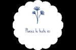 Petit bouquet bleu Étiquettes festonnées - gabarit prédéfini. <br/>Utilisez notre logiciel Avery Design & Print Online pour personnaliser facilement la conception.