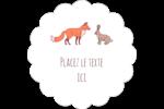 Entretien renard-lièvre  Étiquettes festonnées - gabarit prédéfini. <br/>Utilisez notre logiciel Avery Design & Print Online pour personnaliser facilement la conception.