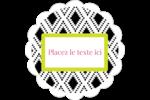 Damas décoratif Étiquettes festonnées - gabarit prédéfini. <br/>Utilisez notre logiciel Avery Design & Print Online pour personnaliser facilement la conception.