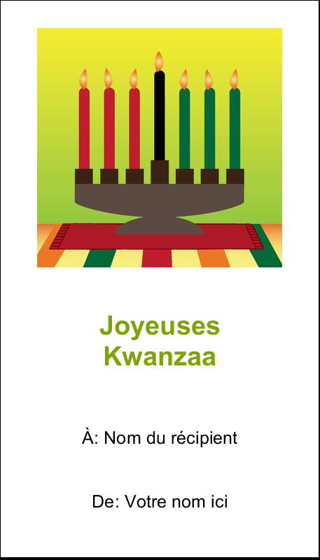"""2"""" x 3½"""" Cartes d'affaires - Lueur verte de Kwanzaa"""