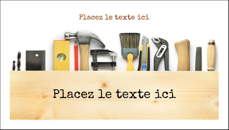 """2"""" x 3½"""" Carte d'affaire - Menuiserie"""