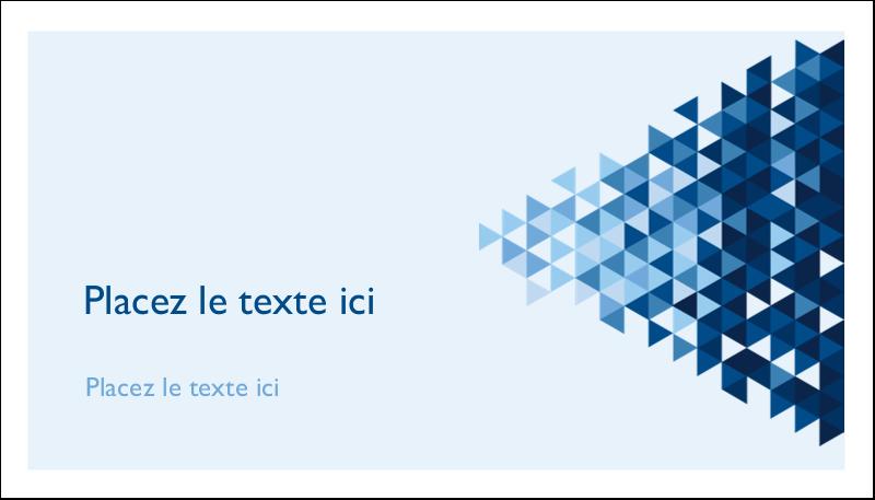 "2"" x 3½"" Carte d'affaire - Angles bleus"