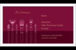 Brosses à cosmétiques Carte d'affaire - gabarit prédéfini. <br/>Utilisez notre logiciel Avery Design & Print Online pour personnaliser facilement la conception.