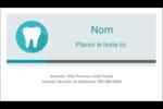 Dent Carte d'affaire - gabarit prédéfini. <br/>Utilisez notre logiciel Avery Design & Print Online pour personnaliser facilement la conception.