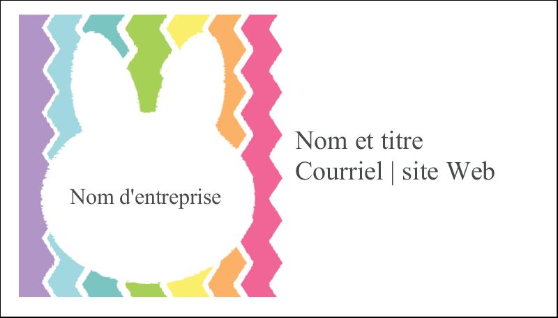 """2"""" x 3½"""" Carte d'affaire - Lapin Bonbon"""