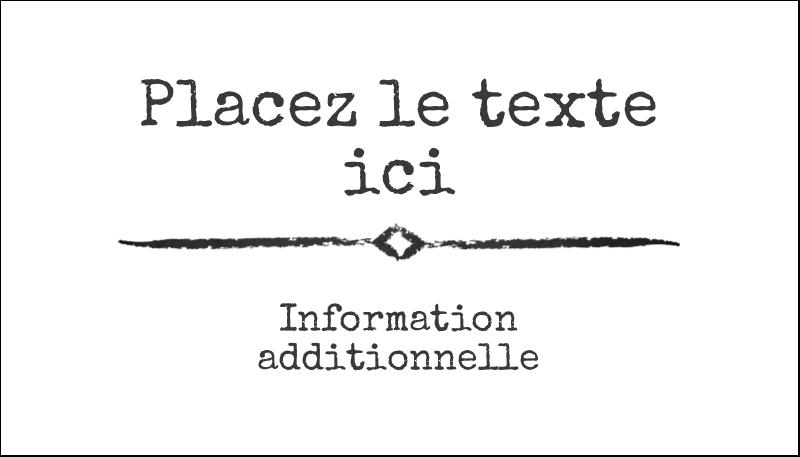"""2"""" x 3½"""" Carte d'affaire - Diplôme et craie"""