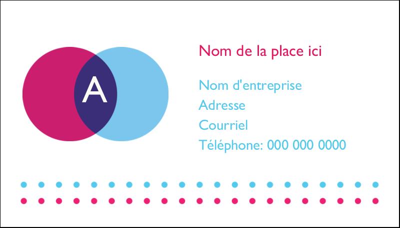 """2"""" x 3½"""" Carte d'affaire - Styliste"""