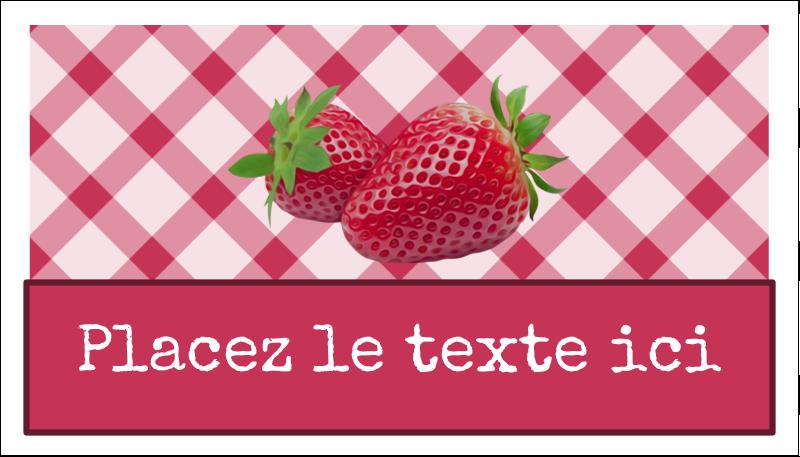 """2"""" x 3½"""" Carte d'affaire - Confiture"""