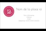 Monogramme en chevron Carte d'affaire - gabarit prédéfini. <br/>Utilisez notre logiciel Avery Design & Print Online pour personnaliser facilement la conception.