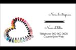 Vernis à ongles en cœur Carte d'affaire - gabarit prédéfini. <br/>Utilisez notre logiciel Avery Design & Print Online pour personnaliser facilement la conception.
