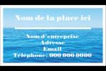 Ciel-océan Carte d'affaire - gabarit prédéfini. <br/>Utilisez notre logiciel Avery Design & Print Online pour personnaliser facilement la conception.
