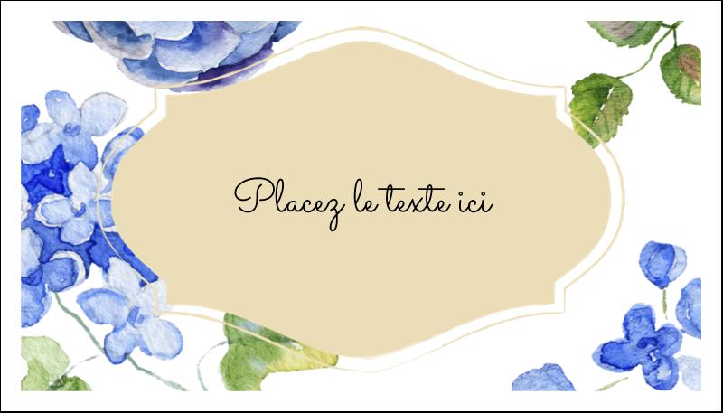 """2"""" x 3½"""" Carte d'affaire - Bleu floral"""