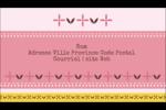 Fleurs roses géométriques Carte d'affaire - gabarit prédéfini. <br/>Utilisez notre logiciel Avery Design & Print Online pour personnaliser facilement la conception.