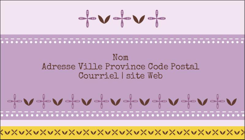 """2"""" x 3½"""" Carte d'affaire - Lavande géométrique"""