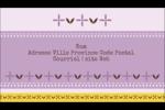 Lavande géométrique Carte d'affaire - gabarit prédéfini. <br/>Utilisez notre logiciel Avery Design & Print Online pour personnaliser facilement la conception.