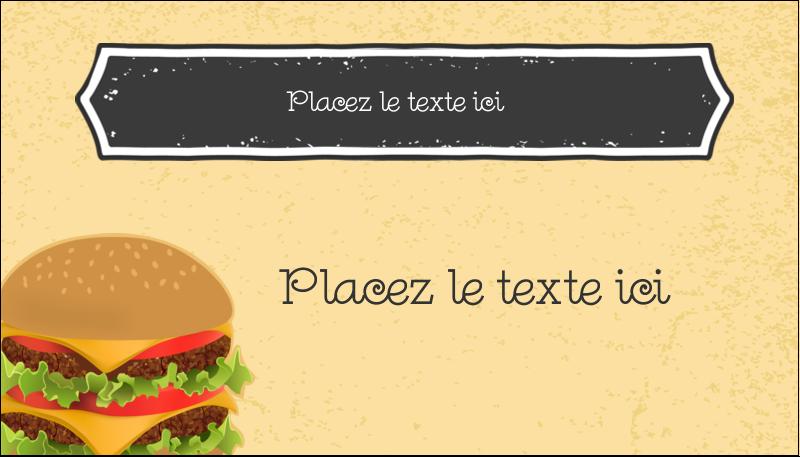 "2"" x 3½"" Carte d'affaire - Hamburger"