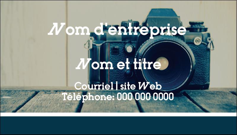"2"" x 3½"" Carte d'affaire - Appareil photo"