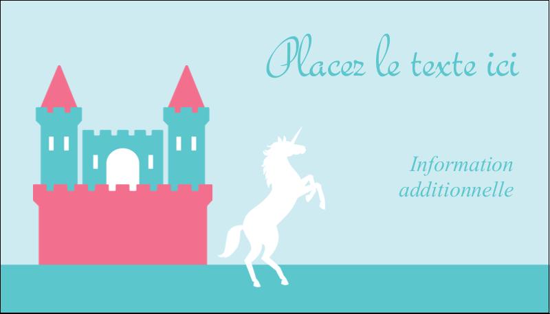 """2"""" x 3½"""" Carte d'affaire - Château"""
