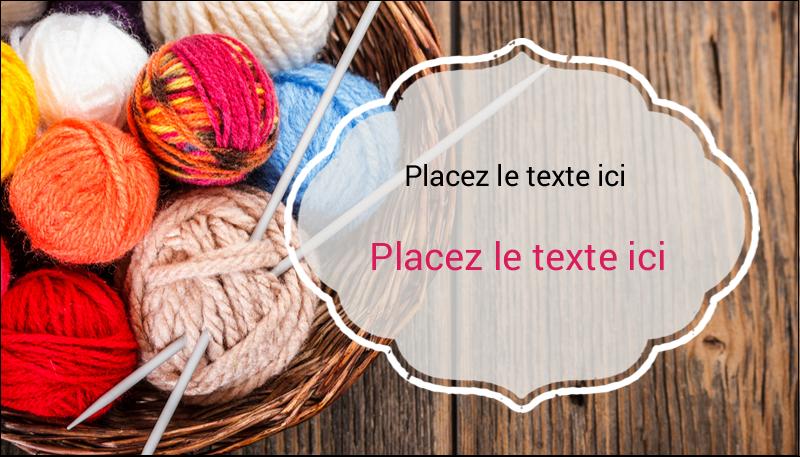 """2"""" x 3½"""" Carte d'affaire - Tricot"""