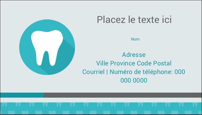 """2"""" x 3½"""" Carte d'affaire - Dent"""