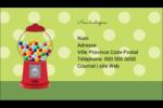 Boules de gomme Carte d'affaire - gabarit prédéfini. <br/>Utilisez notre logiciel Avery Design & Print Online pour personnaliser facilement la conception.
