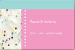 Planificateur de fêtes Étiquettes rectangulaires - gabarit prédéfini. <br/>Utilisez notre logiciel Avery Design & Print Online pour personnaliser facilement la conception.
