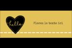 Cœur brodé hello Étiquettes D'Adresse - gabarit prédéfini. <br/>Utilisez notre logiciel Avery Design & Print Online pour personnaliser facilement la conception.