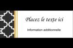 Tuile marocaine noire Étiquettes D'Adresse - gabarit prédéfini. <br/>Utilisez notre logiciel Avery Design & Print Online pour personnaliser facilement la conception.