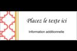 Tuile marocaine saumon Étiquettes D'Adresse - gabarit prédéfini. <br/>Utilisez notre logiciel Avery Design & Print Online pour personnaliser facilement la conception.