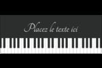 Clavier musical Étiquettes D'Adresse - gabarit prédéfini. <br/>Utilisez notre logiciel Avery Design & Print Online pour personnaliser facilement la conception.