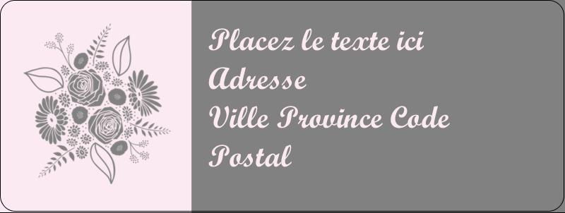 """⅔"""" x 1¾"""" Étiquettes D'Adresse - Bouquet de fleurs"""